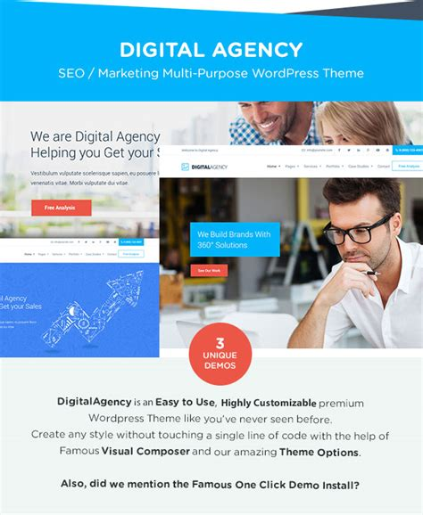 wordpress templates for advertising digital agency seo marketing wordpress theme