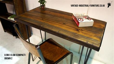 industrial hairpin leg desk vintage industrial desk hairpin legs