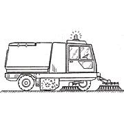 sweeper truck coloring page how to draw street sweeper