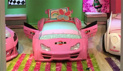 girls car bed girls pink race car bed gt1