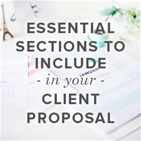 essential sections to include in your client