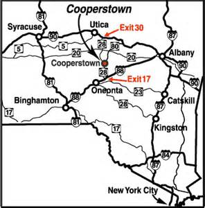 Cooperstown New York Map by Cooperstown Rental Homes And Lodging Area Maps