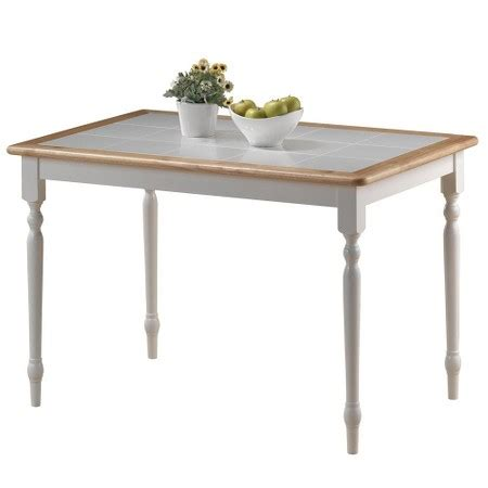 tile top dining table wood white boraam