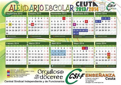 Calendario Escolar Castilla Y 2013 14 Haz Click En La Imagen Para Acceder Al Documento