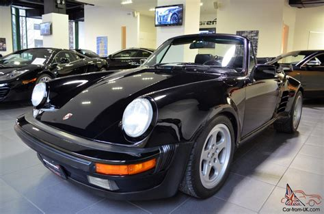 porsche convertible black 1987 porsche 911 cabriolet black ruf manual widebody turbo