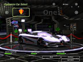 need for speed underground 2 new cars need for speed underground 2 koenigsegg one 1 nfscars