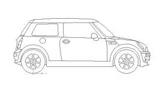 Mini Cooper Drawing Mini Cooper Block In Vehicles Cars Autocad Free Drawing