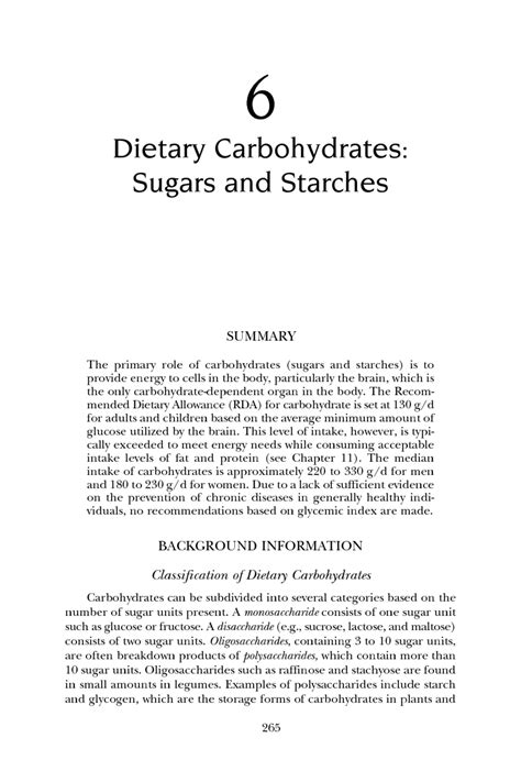 Dietary Analysis Essay by 6 Dietary Carbohydrates Sugars And Starches Dietary Reference Intakes For Energy