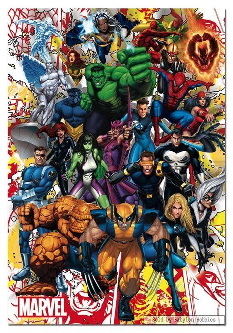 marvel jigsaw 500 pcs jigsaw puzzle marvel marvel heroes educa 15560