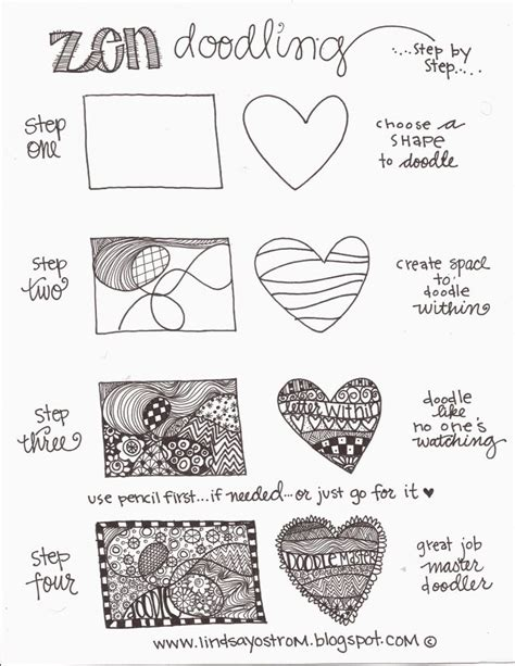 how to create doodle doc zen doodling steps pdf zentangle doodle