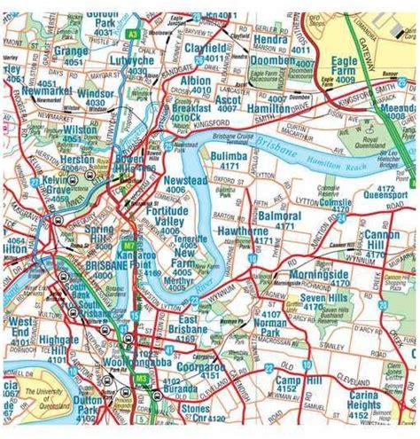map world brisbane greater brisbane hema laminated map buy map of brisbane