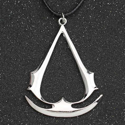 Sale Kalung Assassin S Creed Necklace Asasin Assasin Asassin Kreed assassins creed necklace altair ezio connor desmond silver gold anchor pendant leather rope