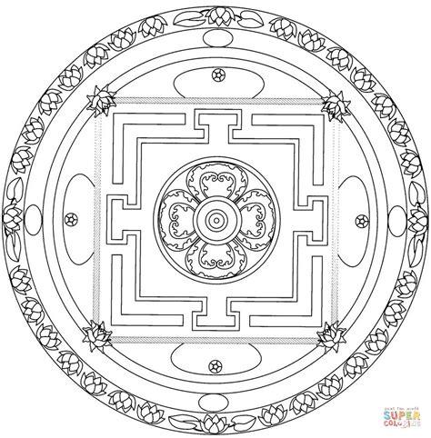 buddhist mandala coloring page tibetan mandala coloring page free printable coloring pages