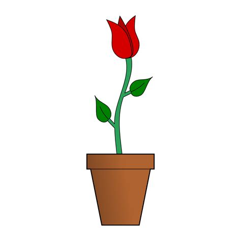 Clipart Flower Vase by Clip Vase Of Flowers Clipart Best