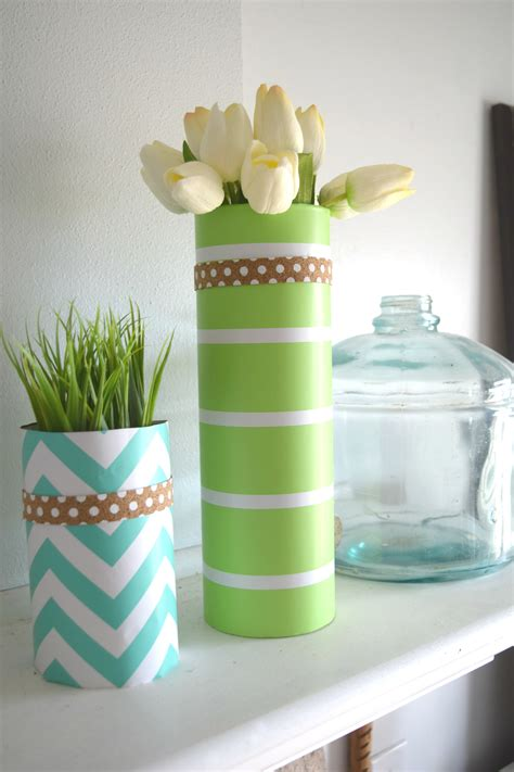 paper home decor diy my spring glass vase and wrapping paper craft our