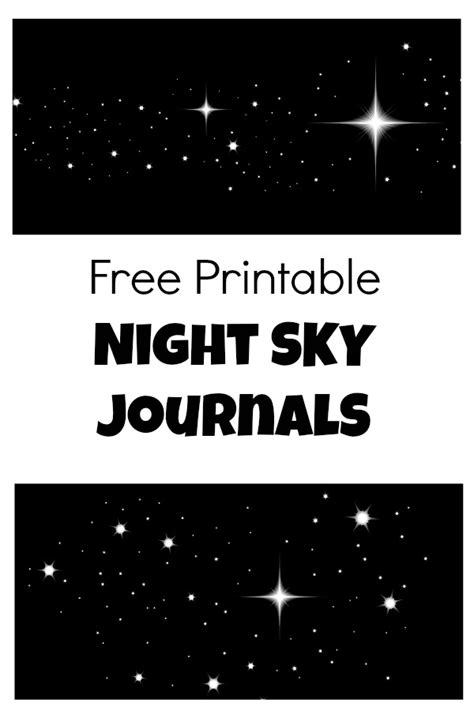 free printable educational journal articles free printable night sky journal fantastic fun learning