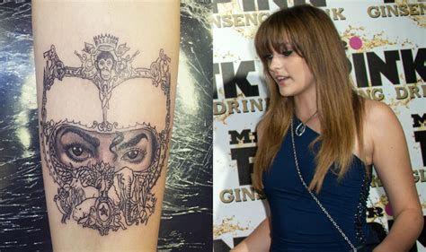 paris jackson gets tattoo in honour of father michael