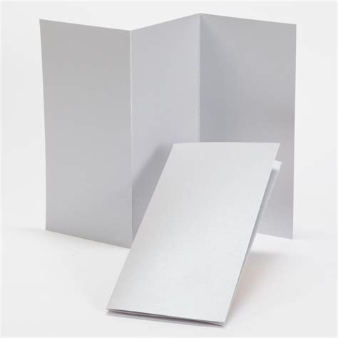 Tri Fold Perforated Paper - impressions silver shimmer tri fold program 4 x 8