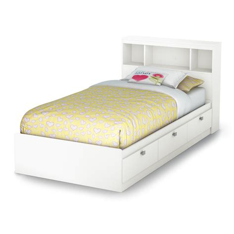 south shore furniture sparkling mates bed with bookcase
