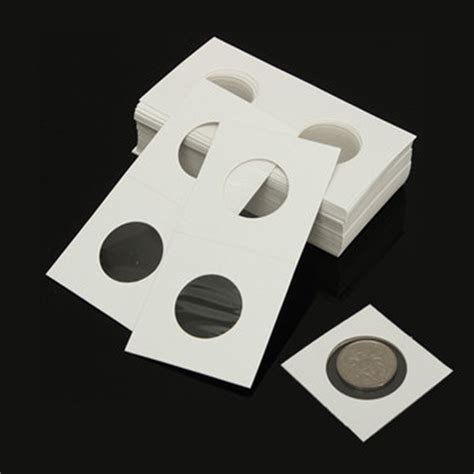 How To Make A Paper Coin Holder - 50pcs 2x2 cardboard mylar paper coin holder collection
