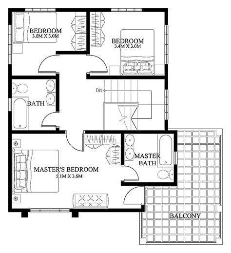 second floor plans home mhd 2012004 pinoy eplans modern house designs small