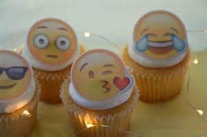 emoji cupcake topper precut edible image cupcake by decoreats
