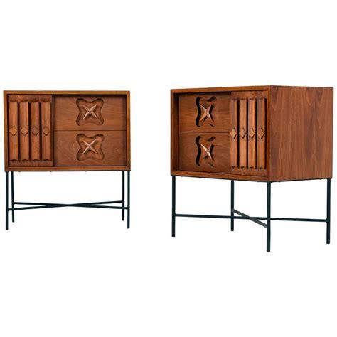 American Walnut Bedroom Furniture Mid Century Modern American Walnut Nightstands 1960s For Sale At 1stdibs