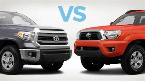 toyota tacoma vs tundra which to buy toyota tundra vs toyota tacoma carmax