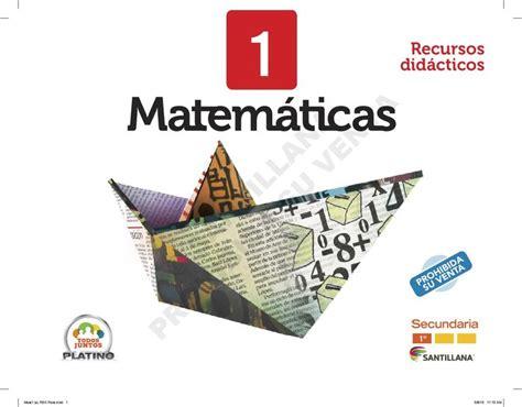 issuu coco libro de matematicas primer grado de secundaria libro para el maestro de matem 193 ticas 1 edit santillana