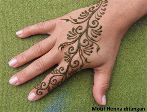 henna art simple tangan makedes com