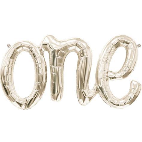 Hochzeitsdeko Wei Gold by Folienballon Schriftzug Quot One Quot Weiss Gold Weddix De