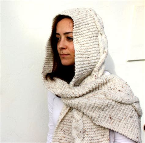 how to knit a hooded scarf knit hooded scarf arts crafts and design finds