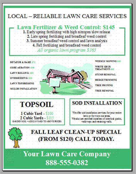 lawn care flyer design 3 the lawn market