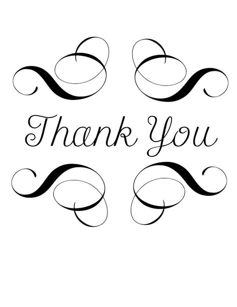 Thank You Black And White Clipart Panda Free Clipart Images Thank You Card Template Black And White