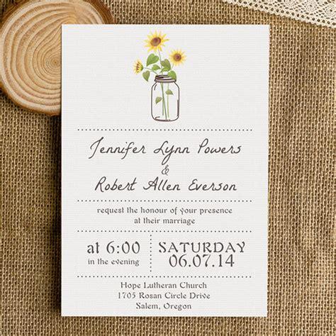 Hochzeitseinladungen Einfach by Rustic Wedding Invitations Jars Chalkboard