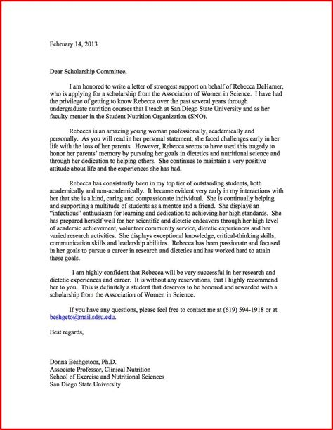 Recommendation Letter Sle Academic recommendation letter for high school student 11
