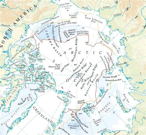 arctic map arctic circle map map of arctic arctic map