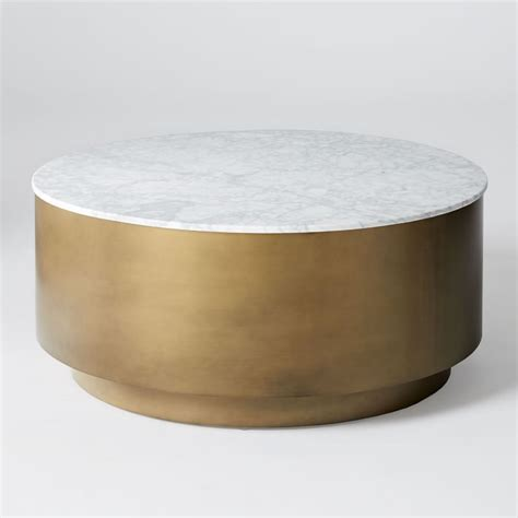marble and metal coffee table marble metal drum coffee table elm coffee table