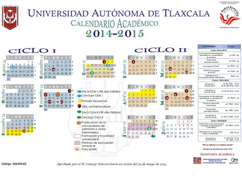Calendario Escolar Uach 2015 Calendarios Escolares Universitarios Calendariolaboral