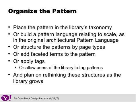 pattern definition language social media design patterns barcblock