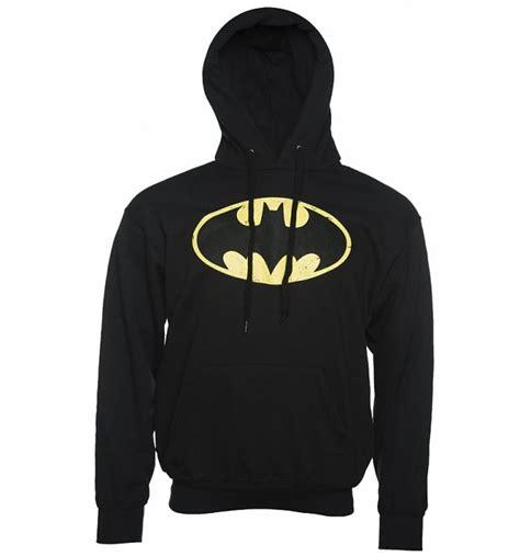 Jaket Sweater Hoodie Hoodie Batman 5 Home Clothing s black distressed batman logo hoodie