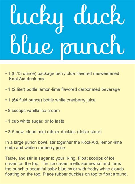 Blue Punch Recipes For Baby Shower by The Best Baby Shower Punch Recipes Cutestbabyshowers