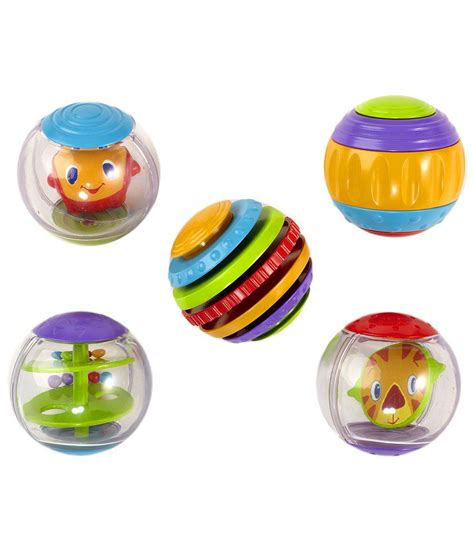 Sold Bright Starts bright starts set of 5 shake spin activity balls buy bright starts set of 5 shake spin