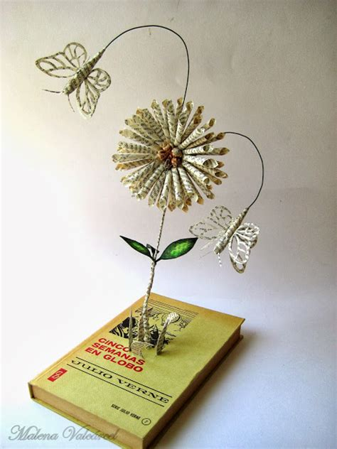 libro the flowers art and malena valc 225 rcel original art libro intervenido libro de artista altered book flores en mi