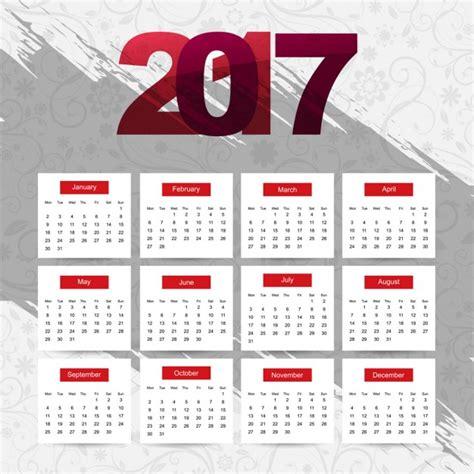 Calendar 2o17 Modern 2017 Calendar In Abstract Style Vector Free