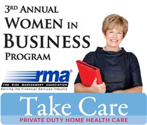 event 3rd annual in business program take care