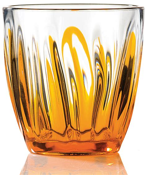 bicchieri acqua bicchiere acqua iris arancio guzzini