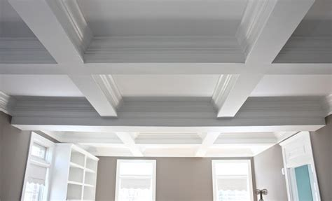 the yellow cape cod coffered ceilings for the home