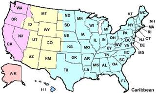 Us State Abbreviations Map by State Abbreviations