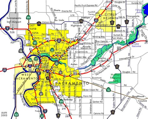 sacramento california map maps of sacramento